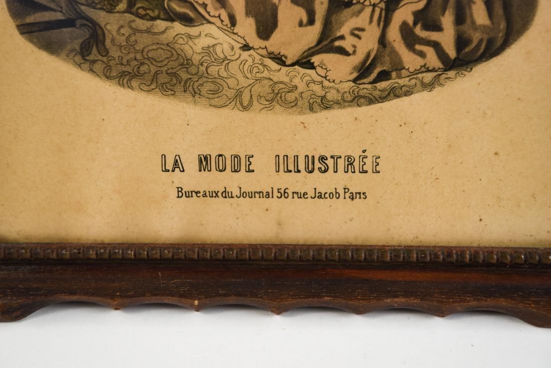 (2) FRENCH FASHION ILLUSTRATION PRINTS - 8