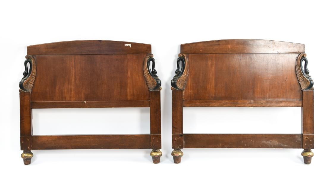 PAIR OF ANTIQUE CARVED HEADBOARDS - 10