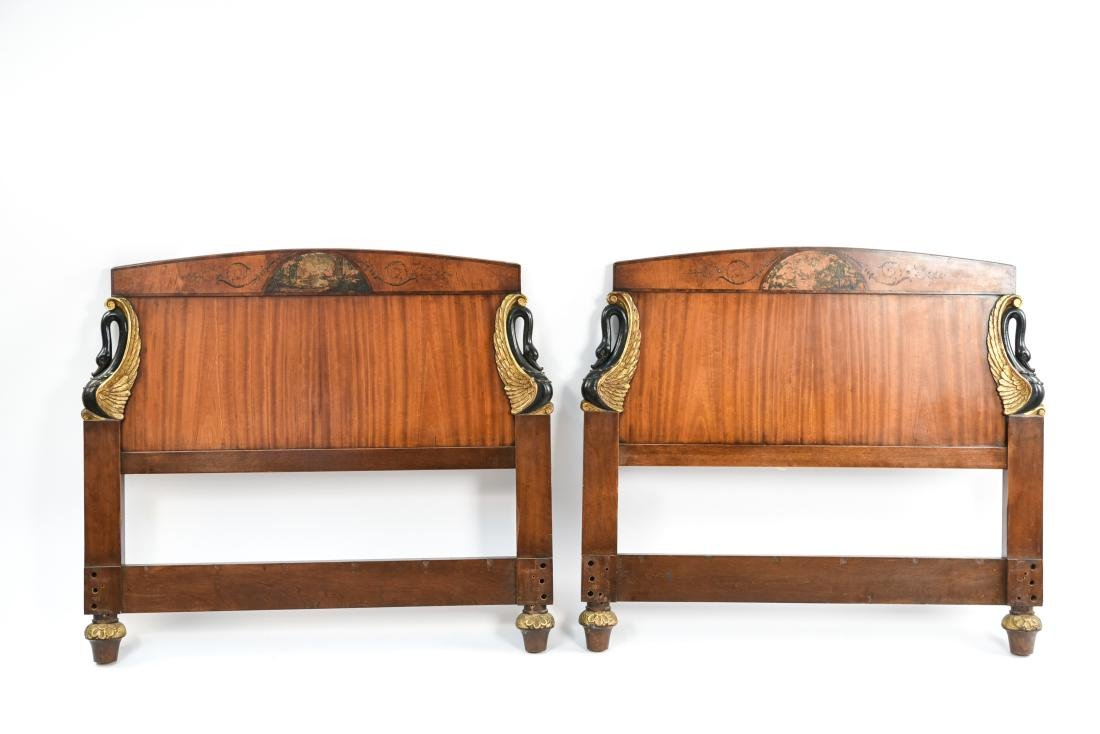 PAIR OF ANTIQUE CARVED HEADBOARDS