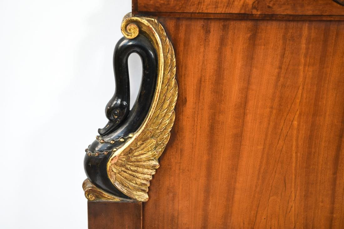 PAIR OF ANTIQUE CARVED HEADBOARDS - 2