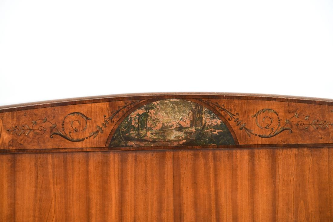 PAIR OF ANTIQUE CARVED HEADBOARDS - 3