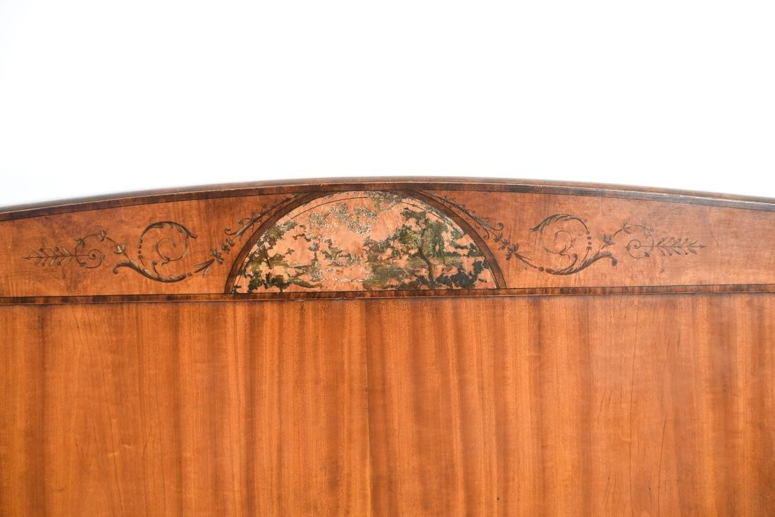 PAIR OF ANTIQUE CARVED HEADBOARDS - 5