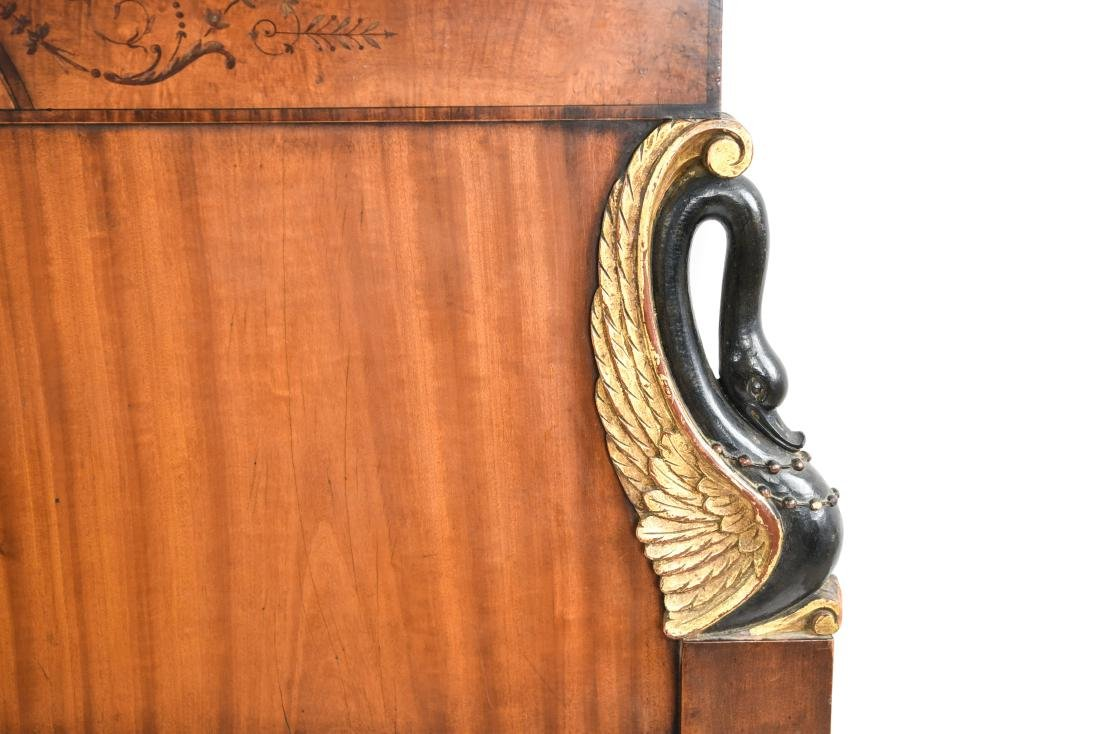 PAIR OF ANTIQUE CARVED HEADBOARDS - 6