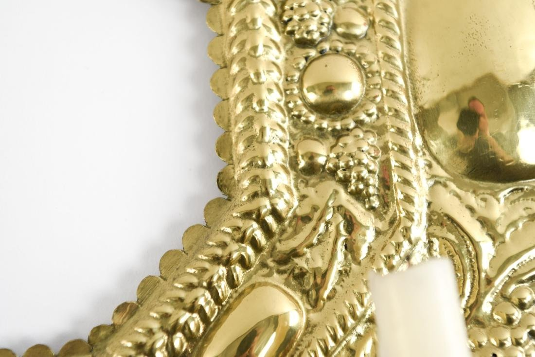 DECORATIVE BRASS CANDLE HOLDER SCONCE - 5
