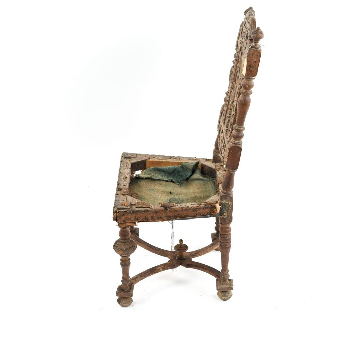 ANTIQUE CARVED SIDE CHAIR - 10