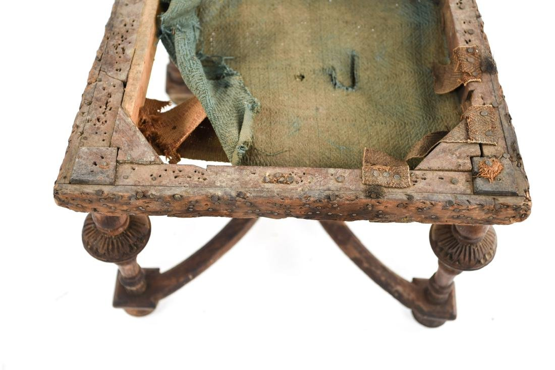 ANTIQUE CARVED SIDE CHAIR - 7