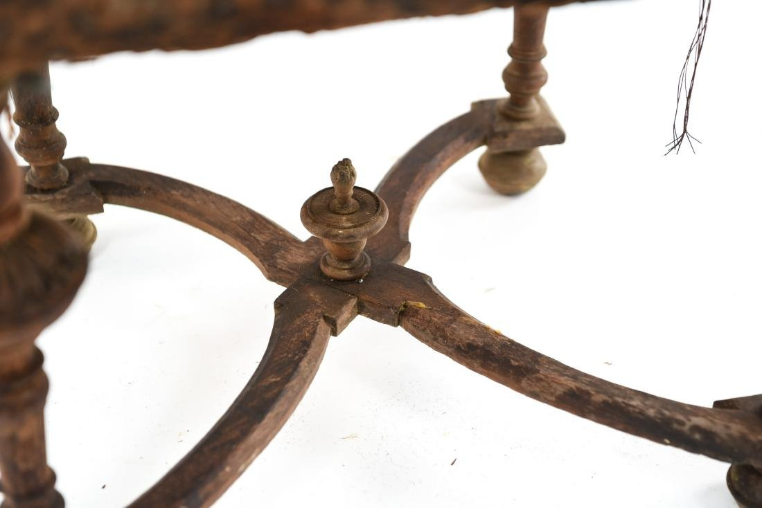 ANTIQUE CARVED SIDE CHAIR - 9