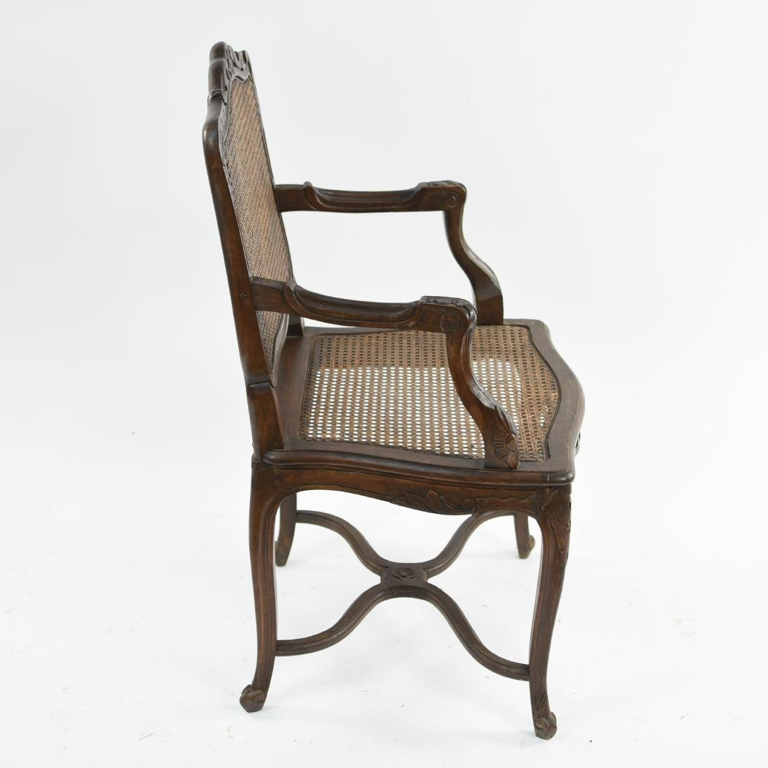 CARVED AND CANED ARMCHAIR - 10