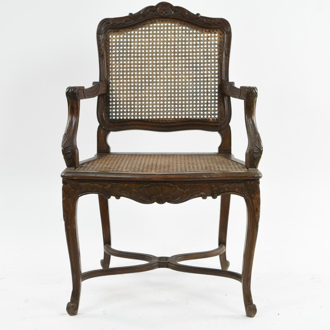 CARVED AND CANED ARMCHAIR - 2