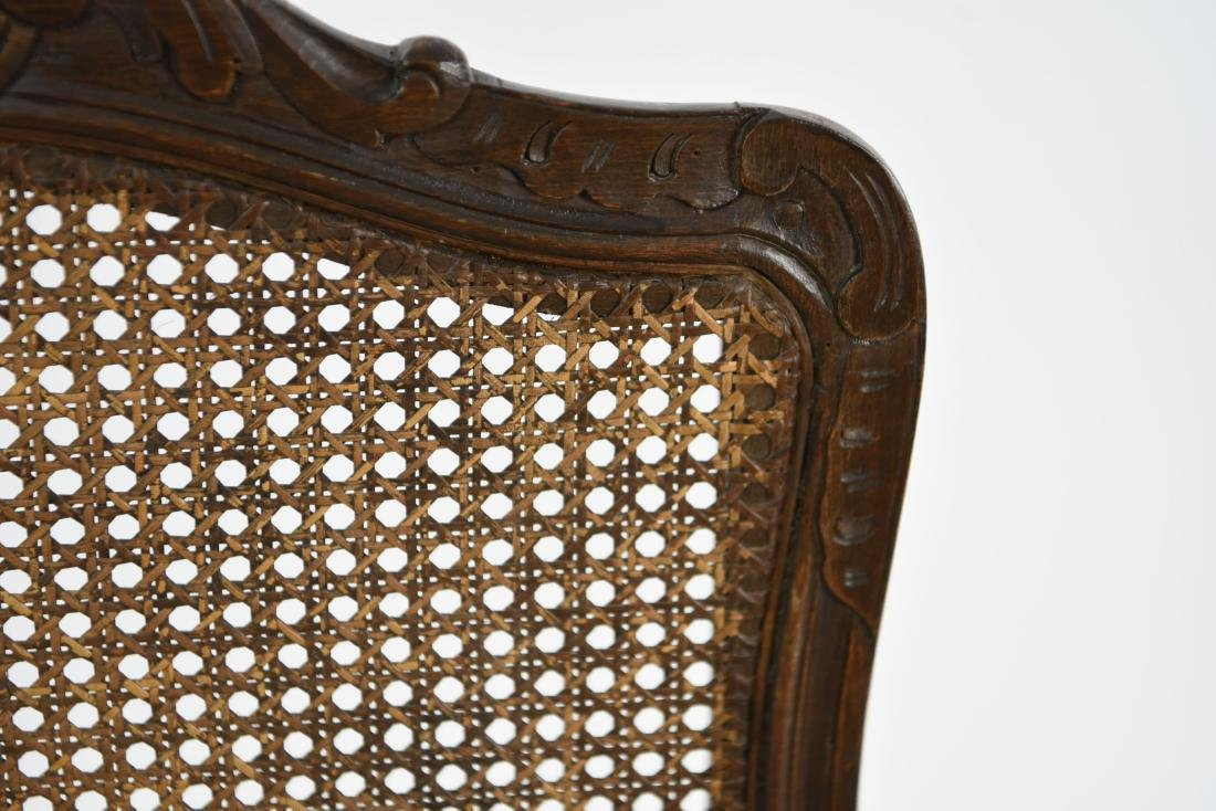 CARVED AND CANED ARMCHAIR - 5