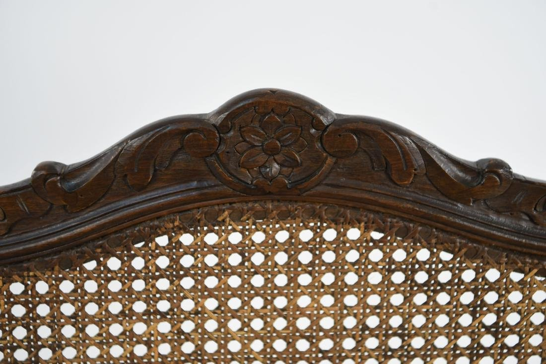 CARVED AND CANED ARMCHAIR - 6