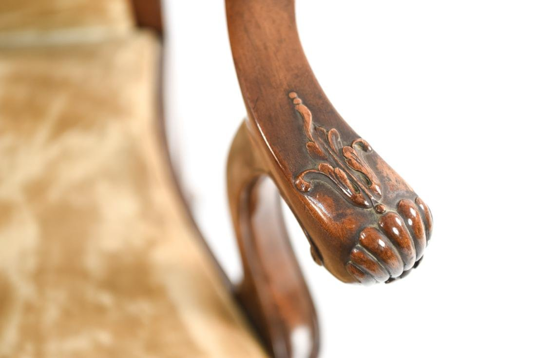 CARVED ARM CHAIR - 7