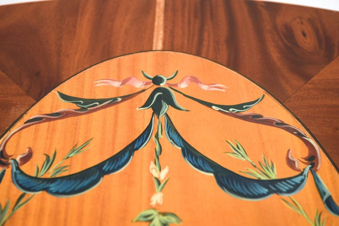 PAINTED PEMBROKE DROP LEAF TABLE - 6