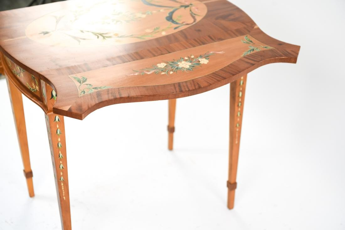 PAINTED PEMBROKE DROP LEAF TABLE - 9