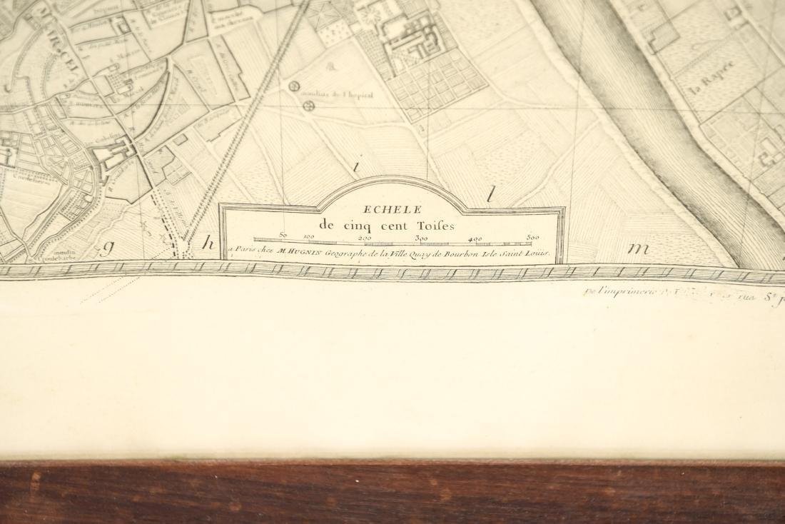VINTAGE REPRODUCTION 18TH C. MAP OF PARIS - 4