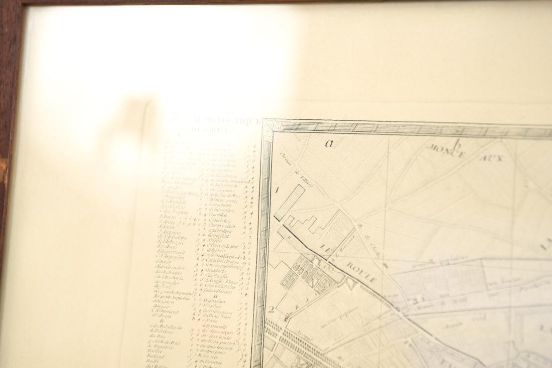 VINTAGE REPRODUCTION 18TH C. MAP OF PARIS - 8