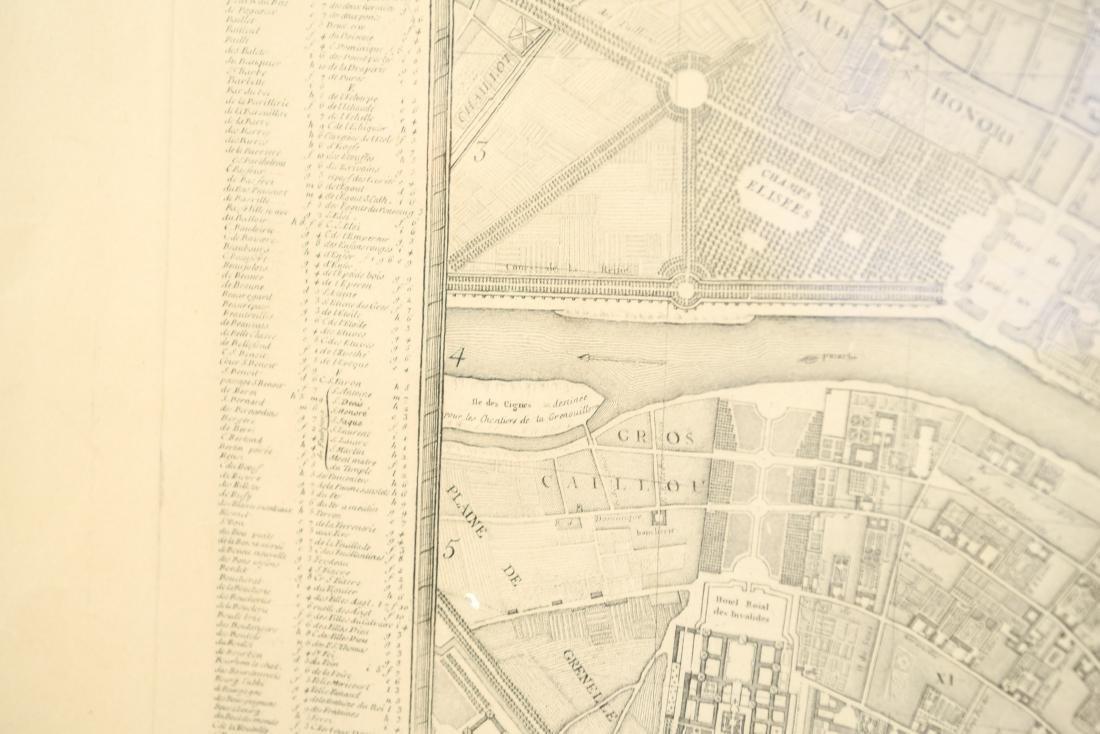 VINTAGE REPRODUCTION 18TH C. MAP OF PARIS - 9