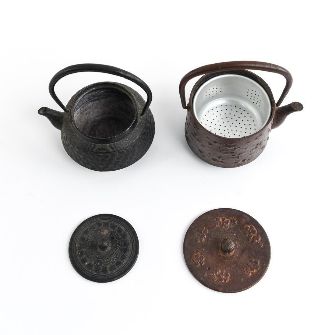 (2) JAPANESE IRON TEA POTS - 3
