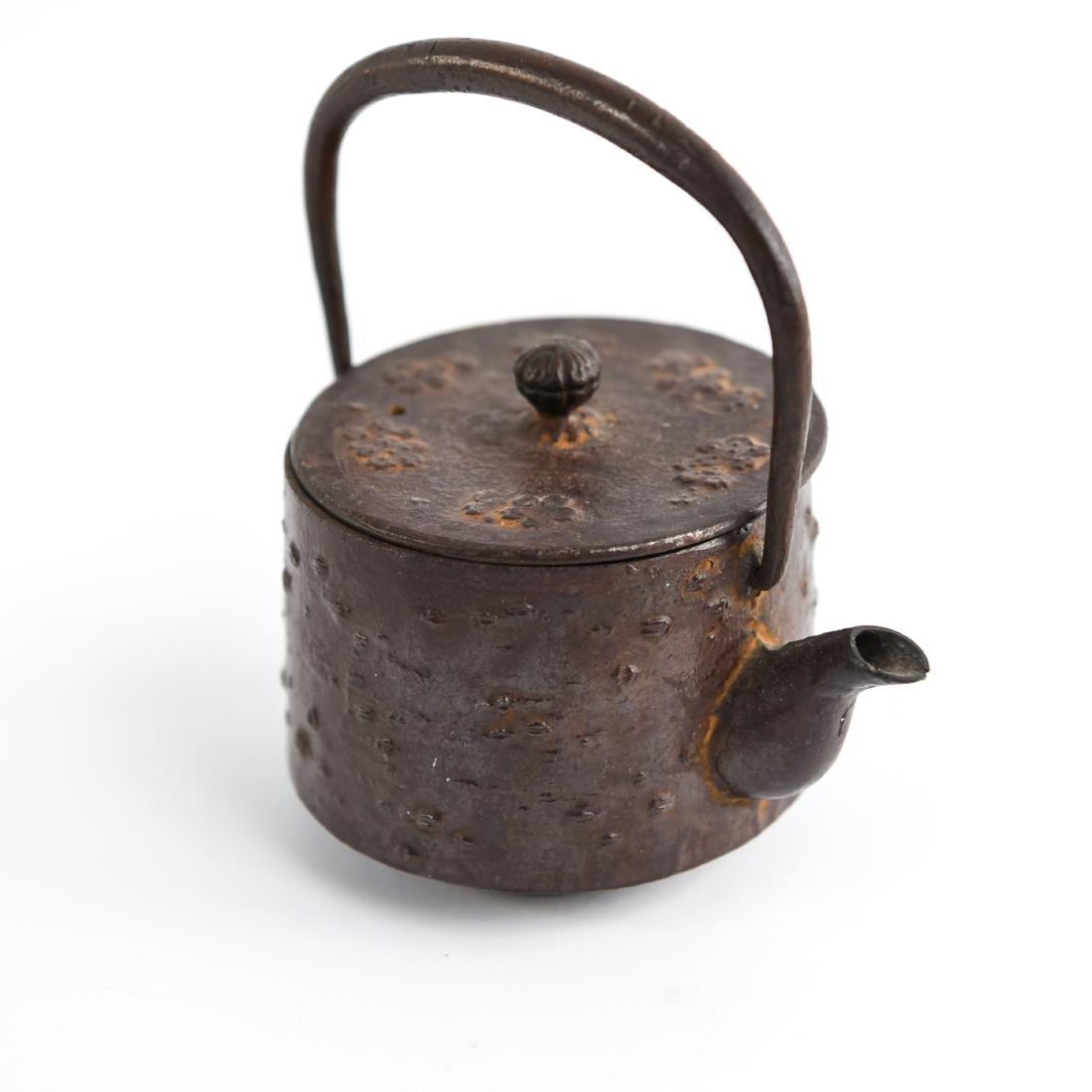 (2) JAPANESE IRON TEA POTS - 4