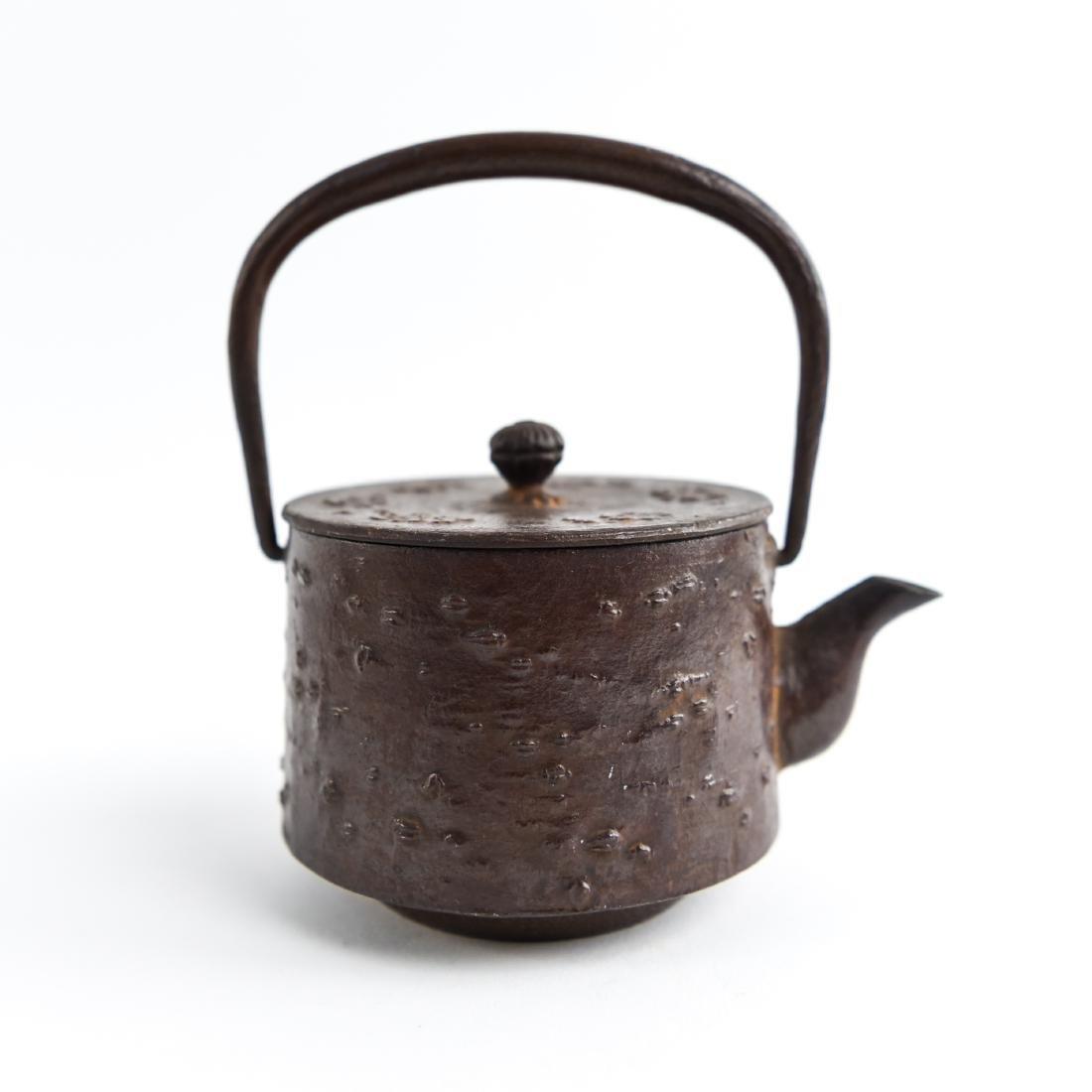 (2) JAPANESE IRON TEA POTS - 5