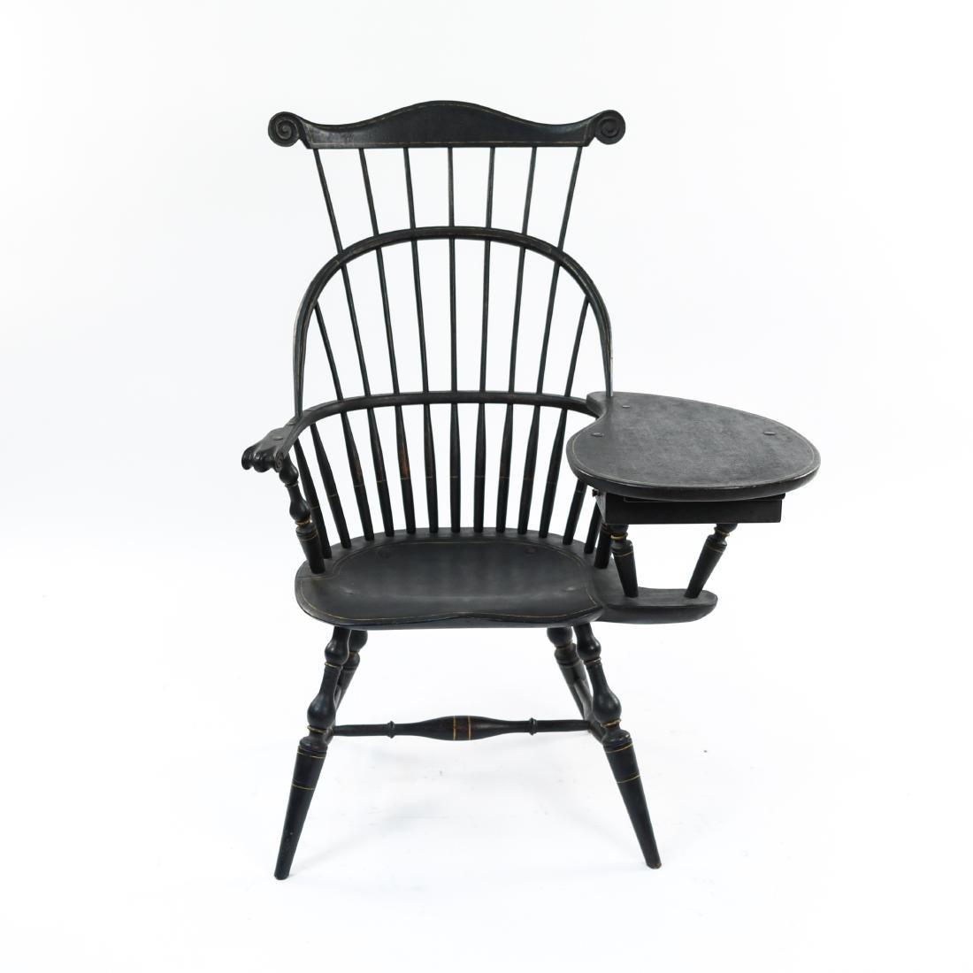 LEFT HANDED WINDSOR DESK CHAIR W/ TABLE