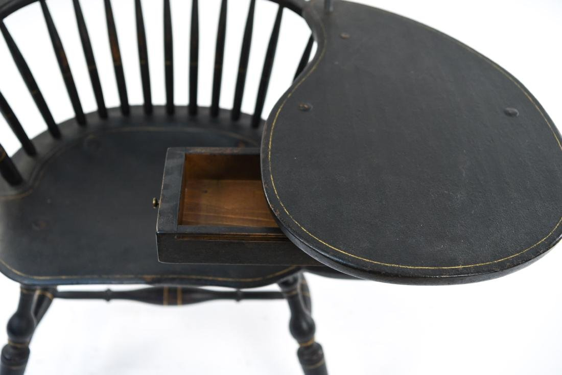 LEFT HANDED WINDSOR DESK CHAIR W/ TABLE - 3