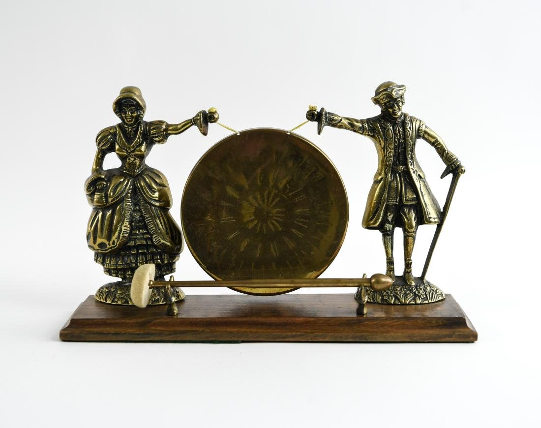 20TH C. DECORATIVE BRASS GONG