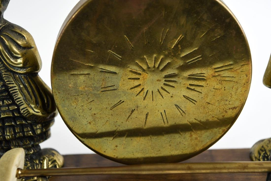 20TH C. DECORATIVE BRASS GONG - 4