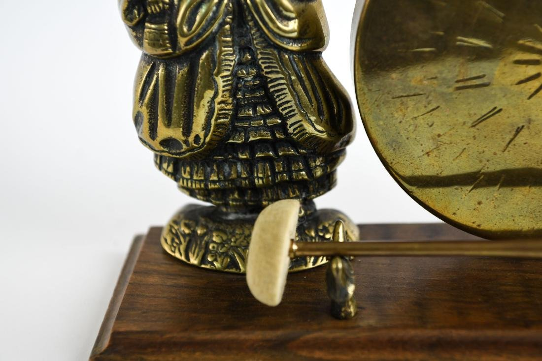 20TH C. DECORATIVE BRASS GONG - 5