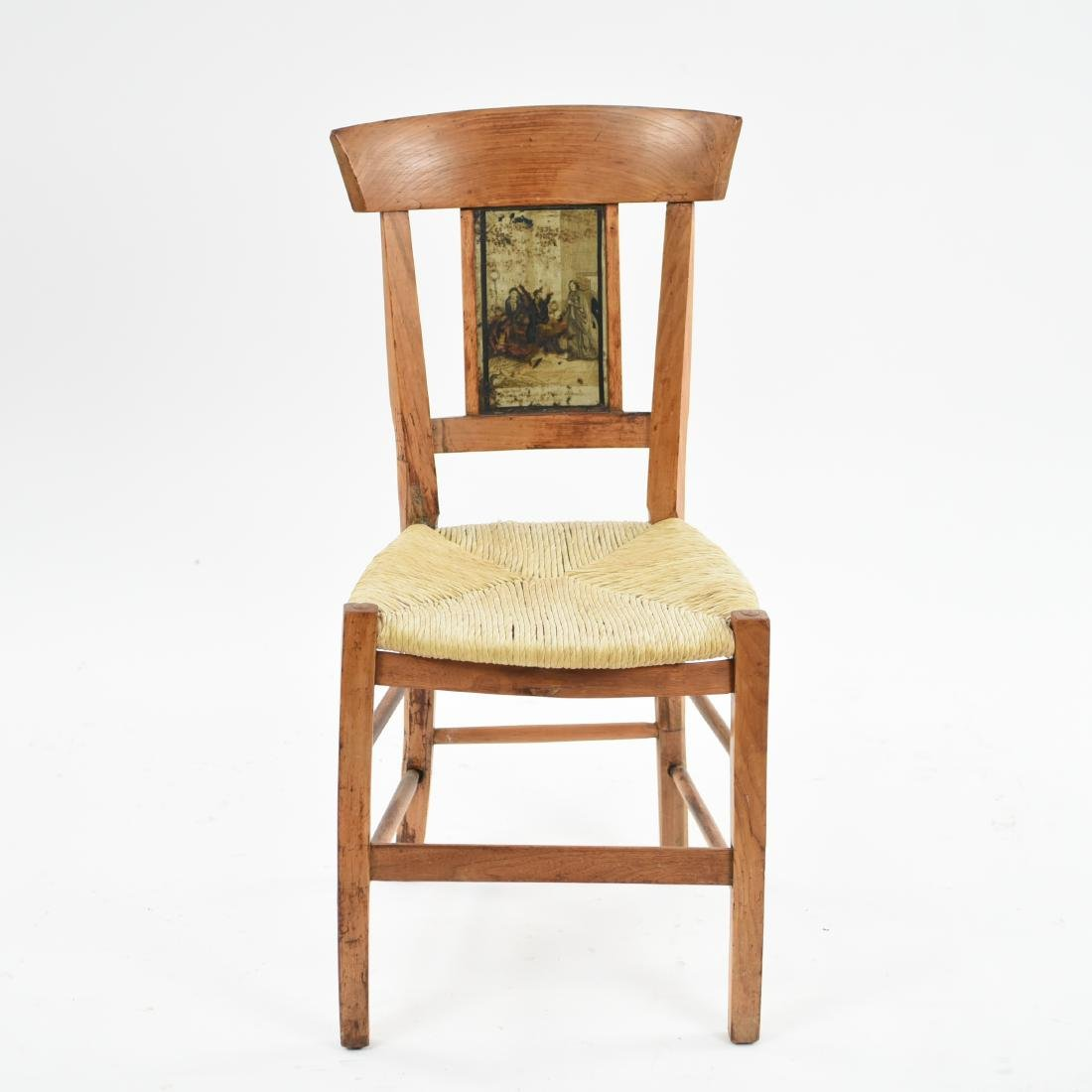 19TH C. PAINT DECORATED SIDE CHAIR