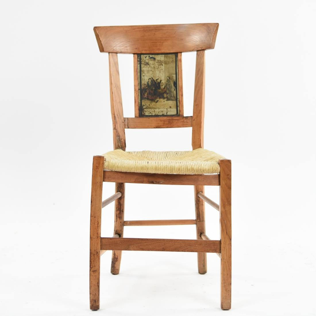 19TH C. PAINT DECORATED SIDE CHAIR - 2