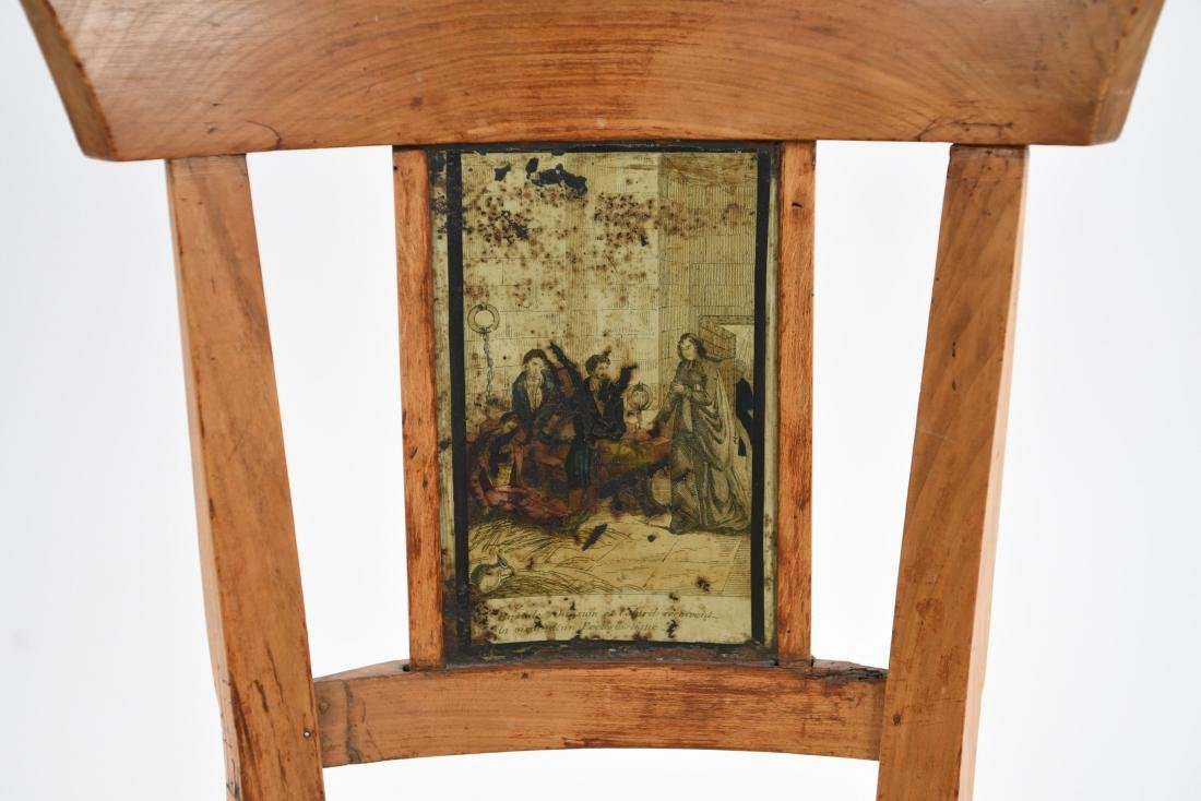 19TH C. PAINT DECORATED SIDE CHAIR - 3