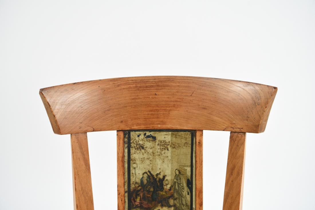 19TH C. PAINT DECORATED SIDE CHAIR - 4