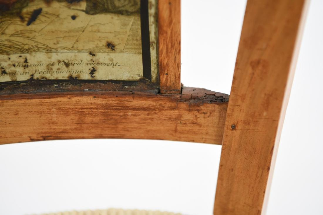 19TH C. PAINT DECORATED SIDE CHAIR - 9