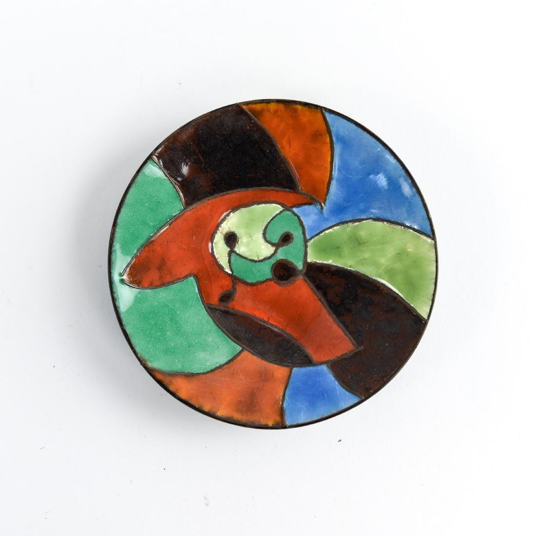 MID-CENTURY ENAMEL AND GLASS GROUPING - 5