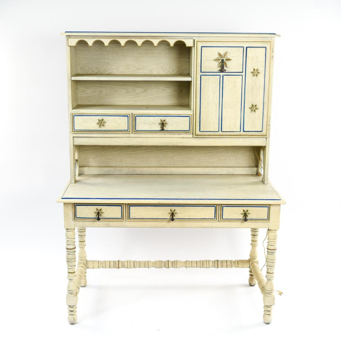 PAINT DECORATED STANLEY DESK WITH BOOKCASE