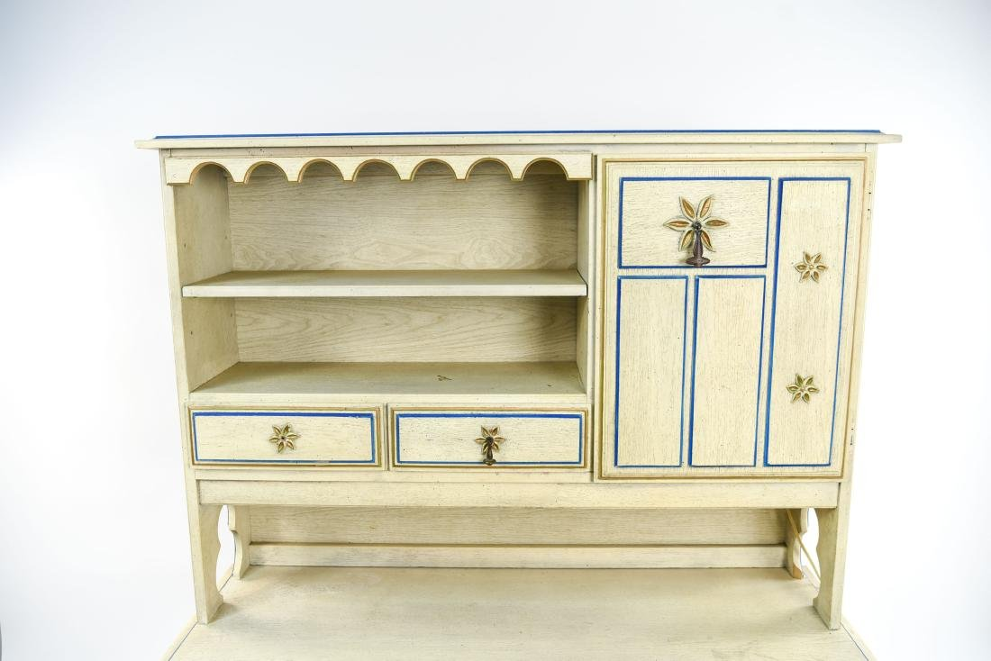 PAINT DECORATED STANLEY DESK WITH BOOKCASE - 3