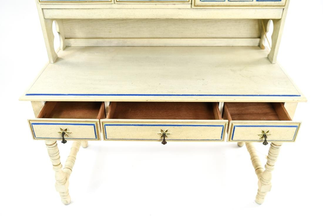 PAINT DECORATED STANLEY DESK WITH BOOKCASE - 5
