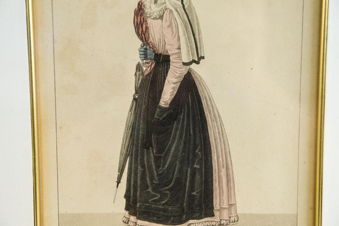PAIR OF FRENCH 19TH C. HAND COLORED ENGRAVINGS - 6