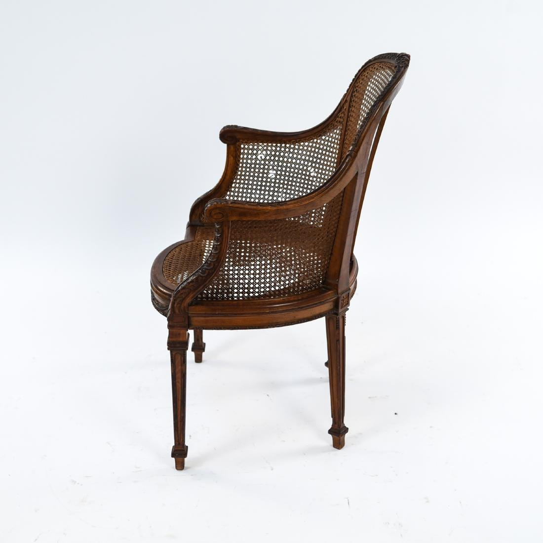 ANTIQUE FRENCH CANED CHAIR - 10