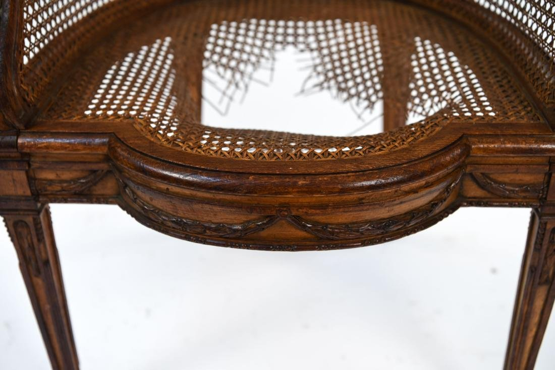 ANTIQUE FRENCH CANED CHAIR - 3