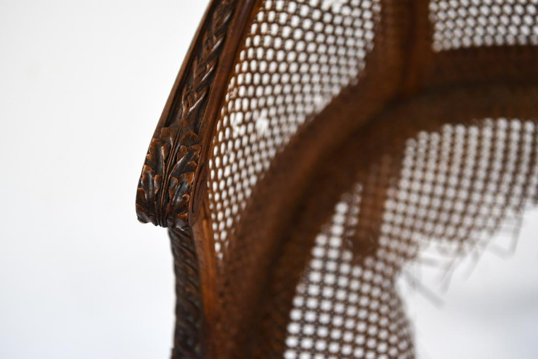 ANTIQUE FRENCH CANED CHAIR - 8