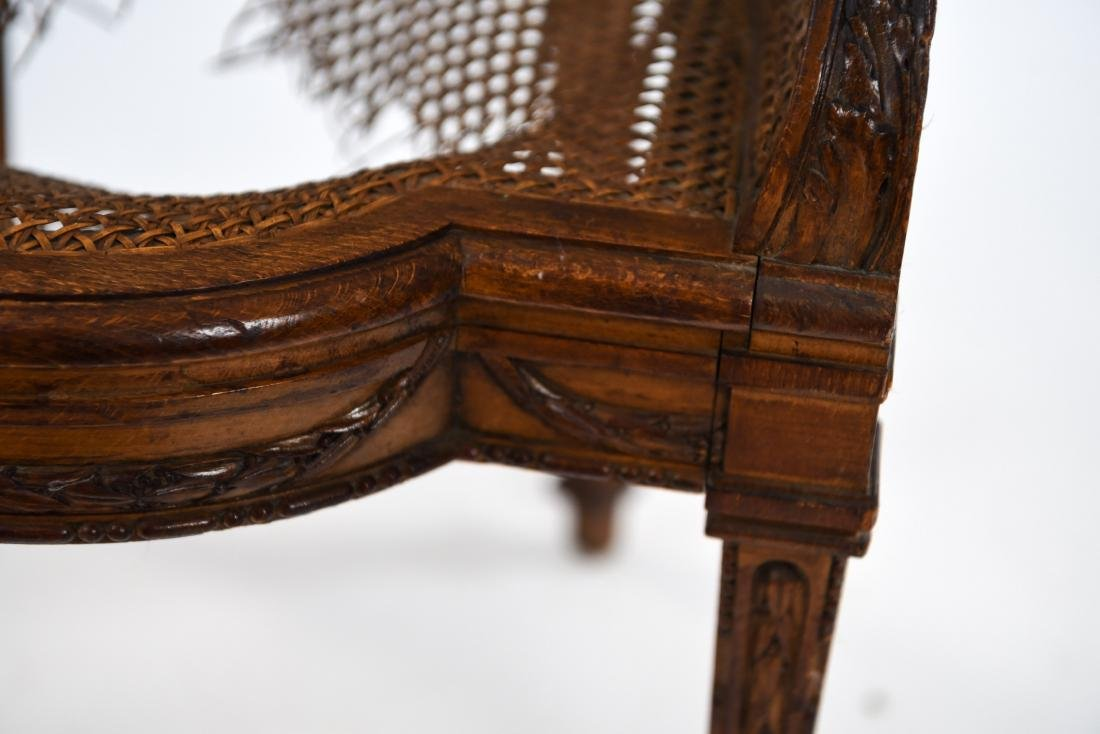 ANTIQUE FRENCH CANED CHAIR - 9