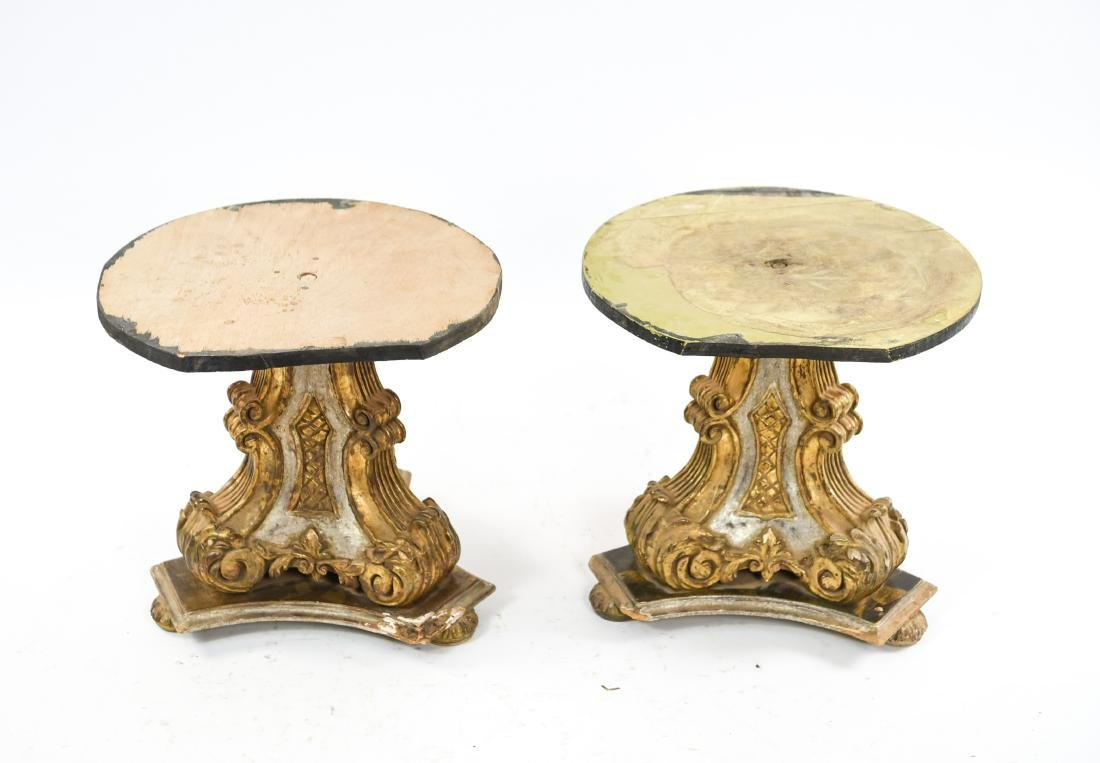 PAIR OF VINTAGE GILT PEDESTAL TABLE BASES