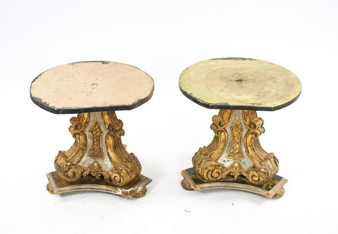 PAIR OF VINTAGE GILT PEDESTAL TABLE BASES