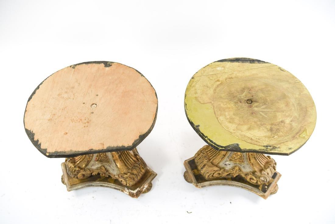 PAIR OF VINTAGE GILT PEDESTAL TABLE BASES - 3