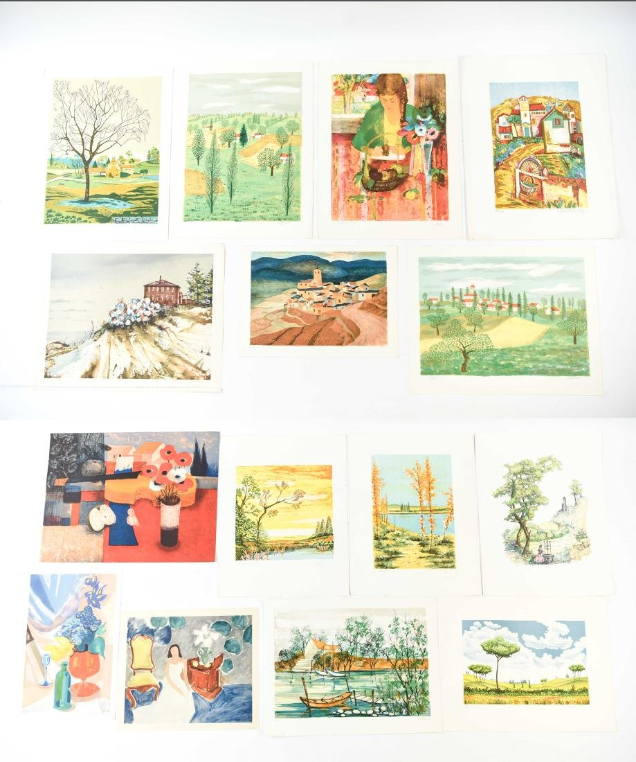 GROUPING OF LITHOGRAPHS