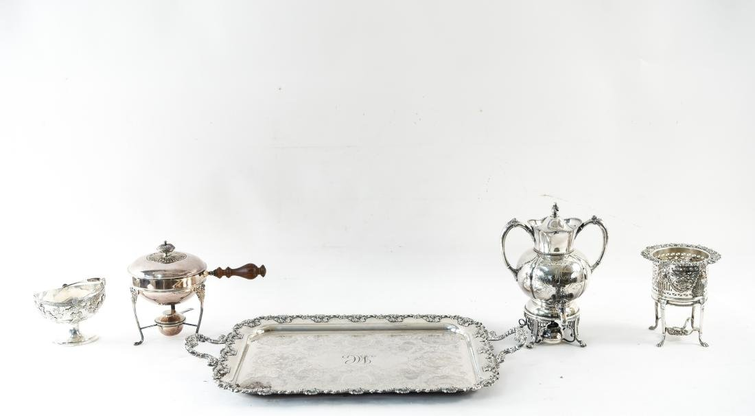 GROUPING OF SILVERPLATE - 2