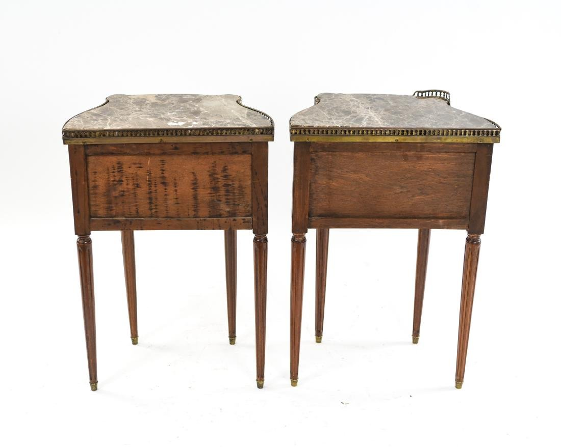 PAIR OF FRENCH MARBLE TOP SIDE TABLES - 10