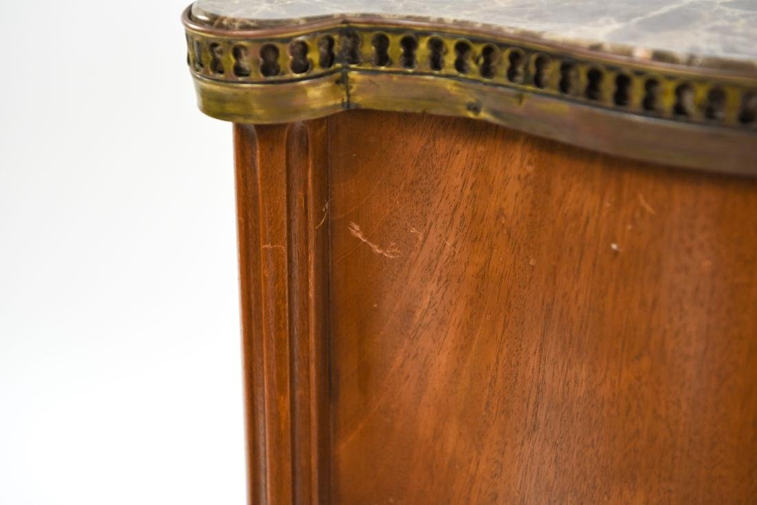 PAIR OF FRENCH MARBLE TOP SIDE TABLES - 9
